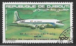 Djibouti, Scott # C178 Used Air France Anniv, DC4, 1983 - Djibouti (1977-...)