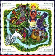 Ref. BR-3180 BRAZIL 2011 FOLKLORE, BRAZILIAN LEGENDS,, DOLPHIN, SET MNH 4V Sc# 3180 - Unused Stamps
