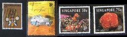 Singapore 1968 Mask & 1997 Taxi & 1994 Clownfish  Pin Cushion Star Fish - Singapore (1959-...)