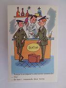 1950s ORIGINAL COMIC ART POSTCARD HUMOR FRANCE ARMY SOLDIER SOLDIERS & DRINKS Z1 - Comics