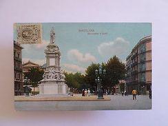 PC & STAMP TCV 1911 SPAIN ESPANA ESPAÑA BARCELONA BARCELONE GUELL MONUMENT  Z1 - Postcards