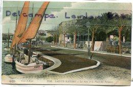 - 1190 - SAINTE -MAXIME - ( Var) - Le Port Et La Place  Des Palmiers, Barques, épaisse, écrite, TBE, Scans. - Sainte-Maxime