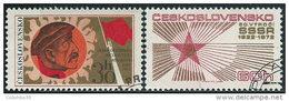Cecoslovacchia 1972 Usato - Mi.2103/4  Yv.1953/4 - Cecoslovacchia