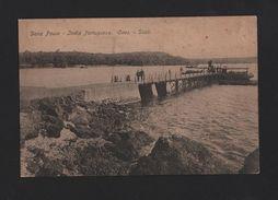 PORTUGUESE INDIA  GOA POSTCARD 1910years DONA PAULA DOCK SHIP SHIPS BOAT BOATS - Postcards