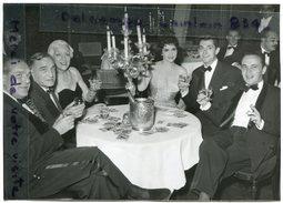 - Photo De Presse - Original - Gina Lollobrigida, , J-Claude Pascal, Charles Vanel, à La Tour D'Argent,1954, TBE, Scans. - Personalità