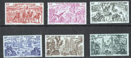 1946  Série «Du Tchad Au Rhin»  Yv 12-17  * - Luftpost