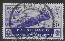 Italia Italy 1934 Regno Medaglie Valor Militare C50 Sa N.371 US - 1900-44 Vittorio Emanuele III