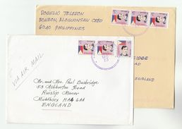 1989  2x PHILIPPINES COVERS To GB Cover Stamps - Philippines