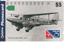 "AUSTRALIA - 75 Years QANTAS, De Havilland DH86/1930""s, Used - Australia"