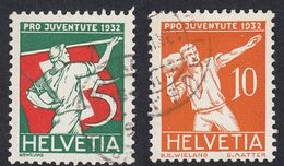 SVIZZERA - 1932 - Lotto 2 Valori Usati Yvert 263/264. Pro Juventute. - Pro Juventute