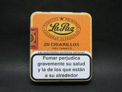 BOITE Métal Vide La Paz (20 Cigares Cigarillos) - Contenitore Di Sigari
