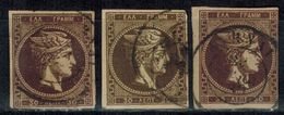 GRIECHENLAND 1876 -  3x MiNr: 45  Used - 1861-86 Hermes, Gross