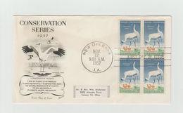 "USA - FDC  SCOUTISME + Timbres ""Whooping Crane"" - Oiseaux - Cachet NEW ORLEANS 1957 - Brieven En Documenten"
