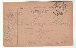 1917 3 Kompagnie FELDPOST  KuK FELDPOSTAMT 646  Feldpostkarte Card Cover Military Forces Stamps Austria Wwi Stationery - 1850-1918 Empire