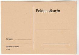 FELDPOSTKARTE Feldpost Military Forces Stationery - Militaria