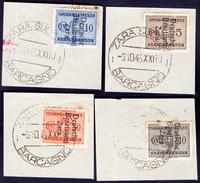 ZARA - DEUTSCHE BESETZUNG - PORTO - Used ZARA BARCAGNO - 1943 - LOT - Occup. Tedesca: Zara