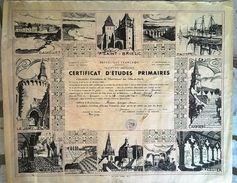 Certificat D'Etudes Primaires Académie Des Côtes Du Nord 1950 - Diplômes & Bulletins Scolaires