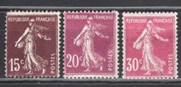 FRANCE 1924/1926 - Y.T. N° 189 / 190 / 191   - NEUFS** - France