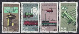 Germany (DDR) 1985  Eisenbahnwesen (o) Mi.2968-2971 - [6] Democratic Republic