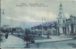 80928 ITALY TORINO TURIN PIAMONTE EXPOSITION 1911 HALL OF SILK INDUSTRY CIRCULATED TO ARGENTINA POSTAL POSTCARD - Non Classificati