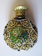 Empty Vintage Perfume Miniature Bottle,diameter=45 Mm,height=60 Mm,thickness=25 Mm - Vintage Miniatures (until 1960)