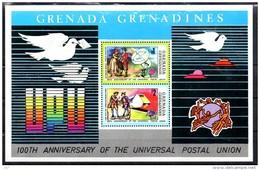 GRENADINES   BF 3  * *    Upu  Poste  Facteur Pigeon Voyageur Telecommunication Trains - Treinen