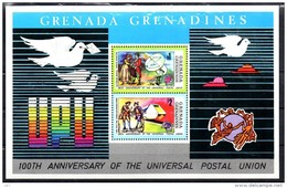 GRENADINES   BF 3  * *    Upu  Poste  Facteur Pigeon Voyageur Telecommunication Trains - Trains