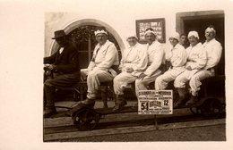 Carte Photo Originale Autriche Hallein Visite De La Mine De Sel Dans Le Plateau De Dürrnberg Sur Wagon & Train En 1928 - Treinen