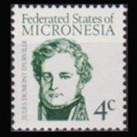 MICRONESIA 1984 - Scott# 8 Dumont Urville 4c MNH - Mikronesien