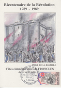 Carte   Bicentenaire  De  La   REVOLUTION   FRONCLES    1989 - Révolution Française