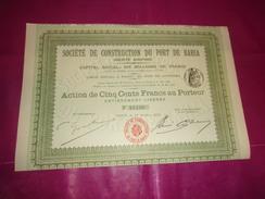 CONSTRUCTION DU PORT DE BAHIA (1910) - Unclassified