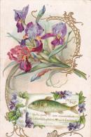 1ER AVRIL FLEURS ET POISSON LEGER RELIEF J C N°1602 - 1° Aprile (pesce Di Aprile)