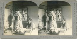 S0350 - JAPON -  Bride's Mother And Bridesmaid Aderning The Bride For Wedding - Stereoscopio