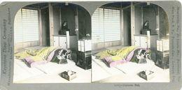 S0351 - JAPON -  JAPANESE BED - Stereoscopio