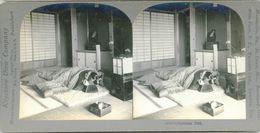 S0352 - JAPON -  JAPANESE BED - Stereoscopio