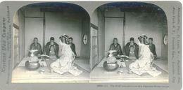 S0354 - JAPON -  The First Acquaintance Of A Japanese Bridal Couple - Stereoscopio
