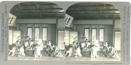 S0357 - JAPON -  The Middleman Making Formal Announcement Of The Marriage - Stereoscopio