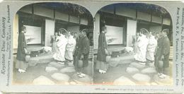 S0358 - JAPON -  Reception Of The Bridal Party At The Bridegroom's House - Stereoscopio