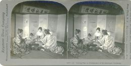 S0362 - JAPON - Taking Tea - A Préliminary Of The Wedding Cérémony - Stereoscopio