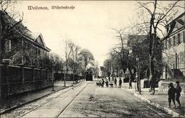 Cp Weidenau Siegen Nordrhein Westfalen, Wilhelmstraße, Straßenbahn, Passanten - Alemania
