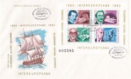 Romania FDC 1983 Intereuropeana Souvenir Sheet (DD8-26) - FDC
