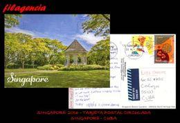 ASIA. SINGAPUR. ENTEROS POSTALES. TARJETA POSTAL CIRCULADA 2016. SINGAPUR-CUBA. AÑO CHINO LUNAR - Singapore (1959-...)