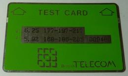 UK - Great Britain - L&G - BT Green Test Card - BTT004 - 009480 - Mint - BT Engineer BSK Service Test Issues