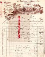 86-CHATELLERAULT- FACTURE PAUL BOULET FILS-ERNEST-EPICERIE CONFISERIE-TORREFACTION- 1909 - Alimentaire