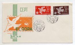 Spagna - 1961- Busta FDC -  EUROPA - Con Doppio Annullo- (FDC6079) - FDC
