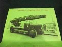 Comando  PROVINCIALE DEI VIGILI DEL FUOCO  GENOVA AUTOSCALA BERGOMI 1929CON CARATTERISTICHE TECNICHE - Pompieri