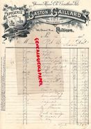 86- POITIERS- FACTURE GASTON GAILLARD-CH. GAUTHIER FILS- EPICERIE DROGUERIE TEINTURE- 185 GRAND'RUE- 1908  RARE - Alimentare