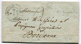 HAUTE MARNE De DAMMARTIN Boîte Rurale O + Dateur T14 De MONTIGNY LE ROI Sur LAC Du 06/02/1850 - Marcophilie (Lettres)
