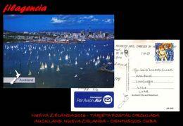 AUSTRALIA & OCEANÍA. NUEVA ZELANDA. ENTEROS POSTALES. TARJETA POSTAL CIRCULADA 2016. NUEVA ZELANDA-CUBA. NAVIDADES - New Zealand