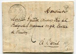 VOSGES De MARTIGNY LES BAINS Boîte Rurale M + Dateur T14 De LAMARCHE Sur LAC Du 29/03/1879 TFM De 2 Pour PARIS - Marcophilie (Lettres)